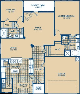 1,783 sq. ft. RIALTO floor plan