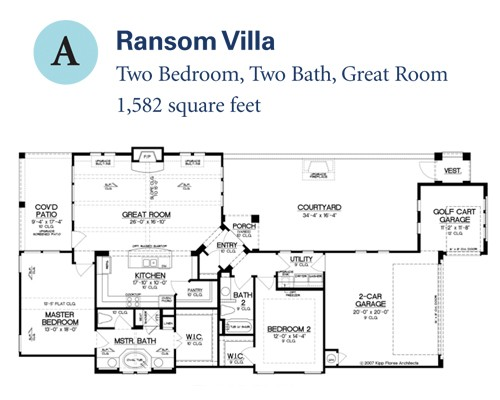 1,582 sq. ft. Ransom Villa floor plan