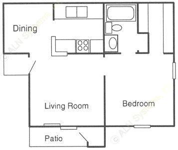 630 sq. ft. A floor plan