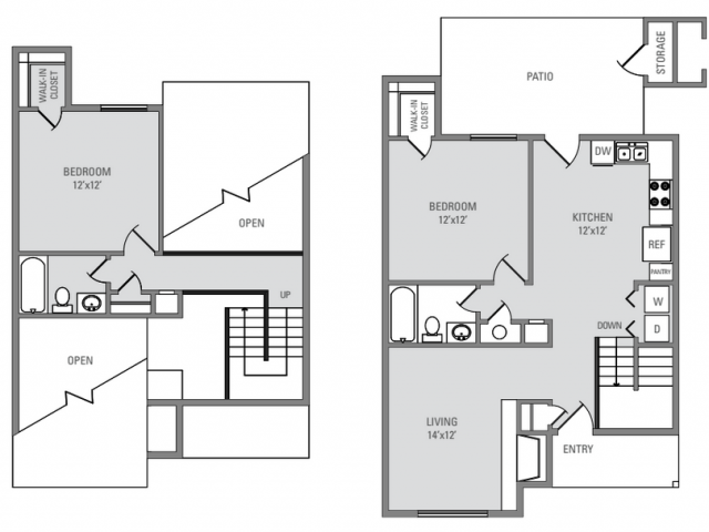 1,114 sq. ft. Windchester floor plan