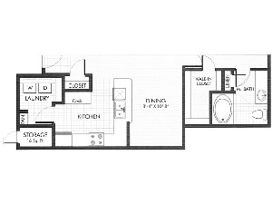 1,155 sq. ft. Onyx floor plan