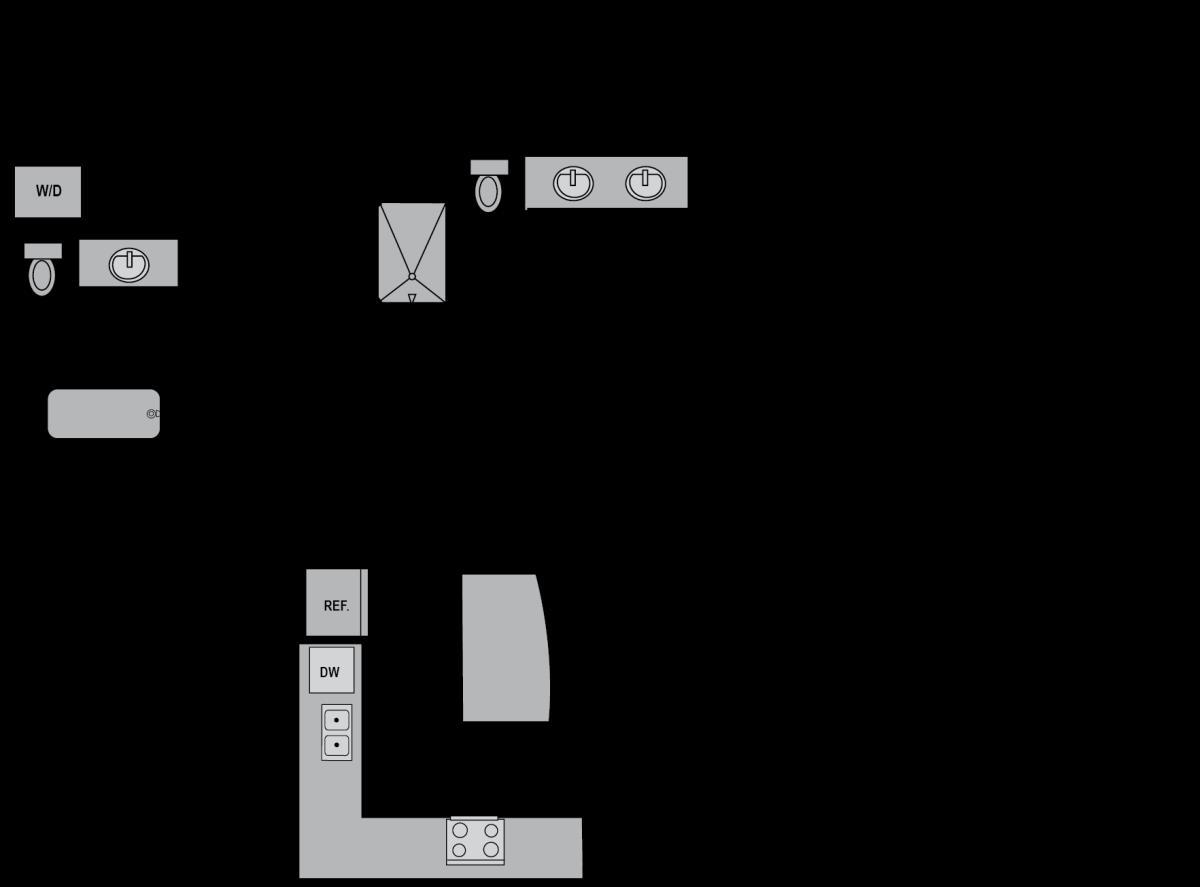 1,293 sq. ft. B5 floor plan