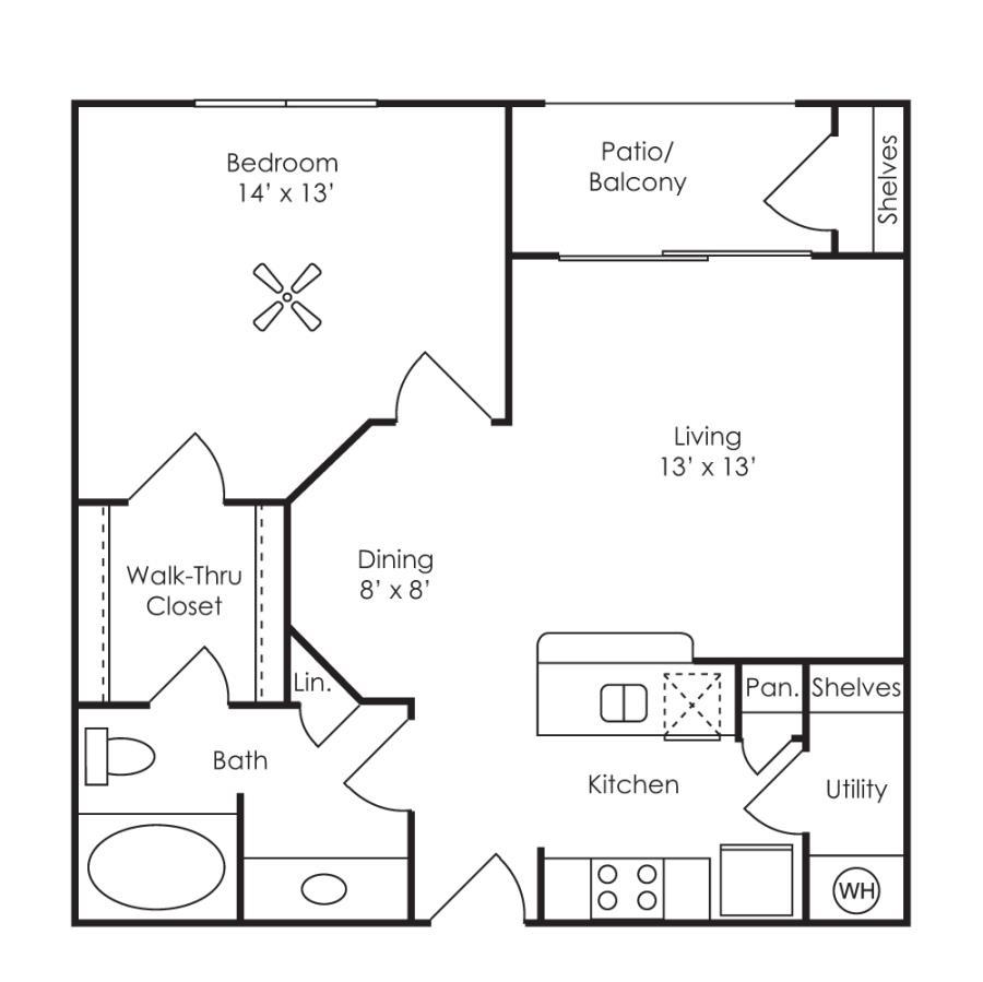 659 sq. ft. Anatolia floor plan