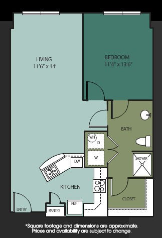 805 sq. ft. La Grange floor plan