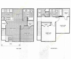 1,218 sq. ft. Pinewood/50% floor plan