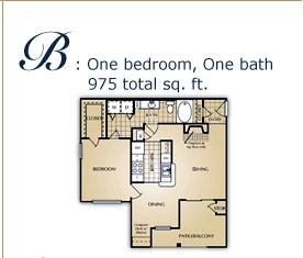 842 sq. ft. B floor plan