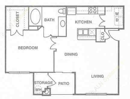 705 sq. ft. to 761 sq. ft. Saint Thomas floor plan
