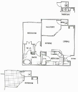 750 sq. ft. A2-SONOMA floor plan