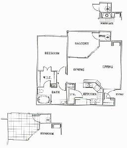 750 sq. ft. A2-Sonoma floor plan