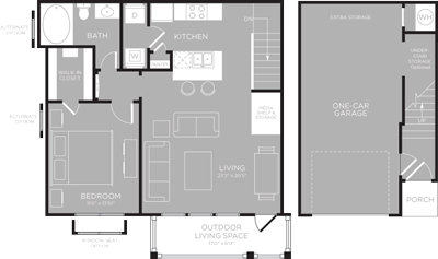 788 sq. ft. Fairfield floor plan
