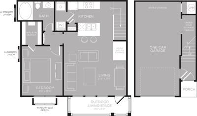 788 sq. ft. Fairfield floor plan
