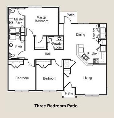 1,378 sq. ft. MKT floor plan