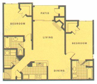1,070 sq. ft. MESA floor plan