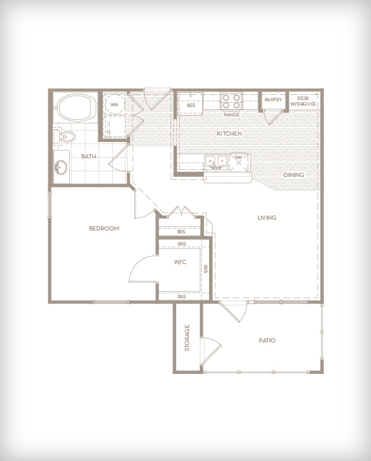 735 sq. ft. A1 Salon floor plan