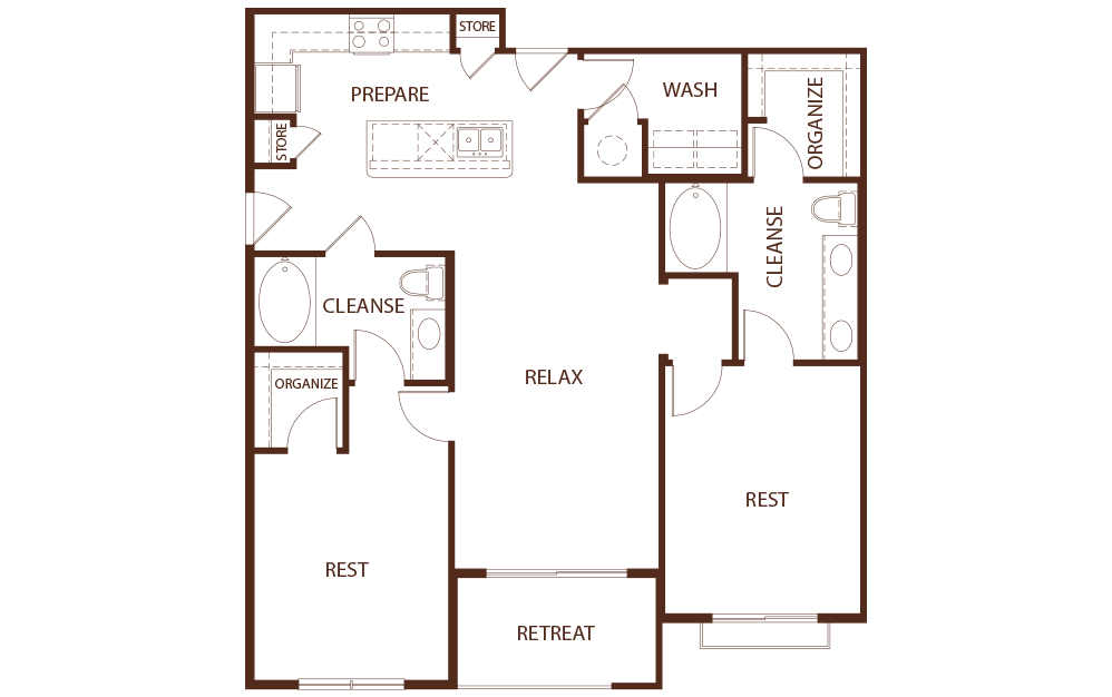 1,271 sq. ft. B1B floor plan