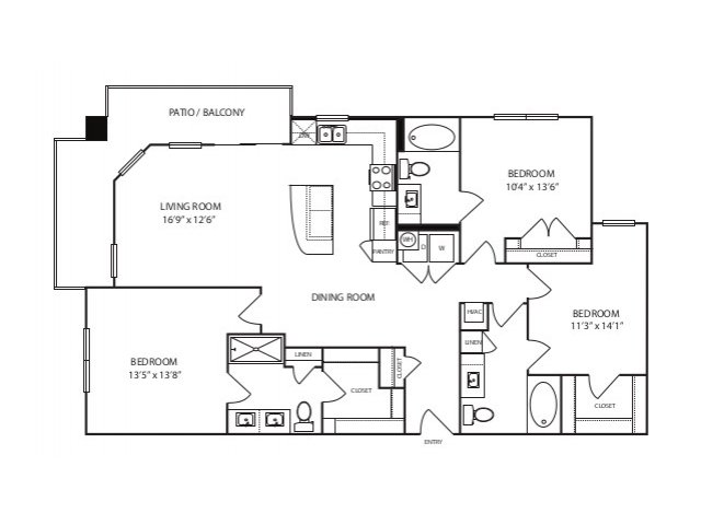1,450 sq. ft. C1 ansi floor plan