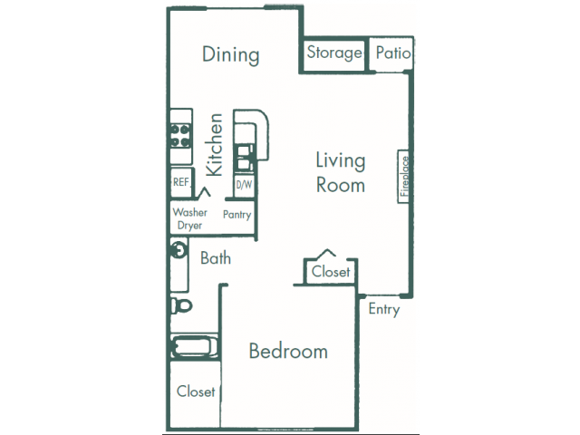 777 sq. ft. A5 floor plan