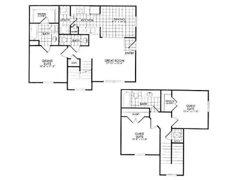1,128 sq. ft. 60% floor plan