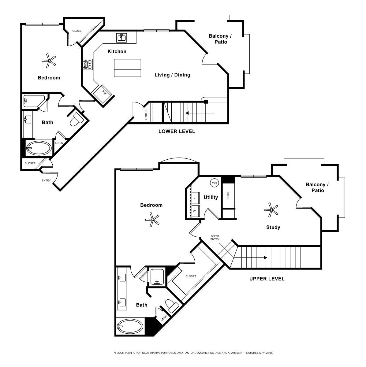 1,578 sq. ft. Portafino floor plan