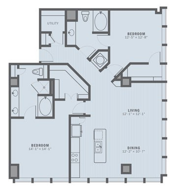 1,464 sq. ft. B5A floor plan