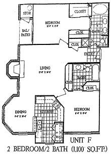 1,100 sq. ft. Green Ash floor plan