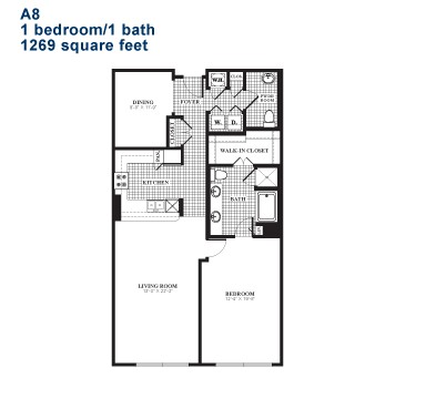 1,215 sq. ft. A8 floor plan