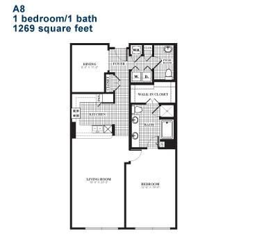 1,215 sq. ft. A8 floor plan