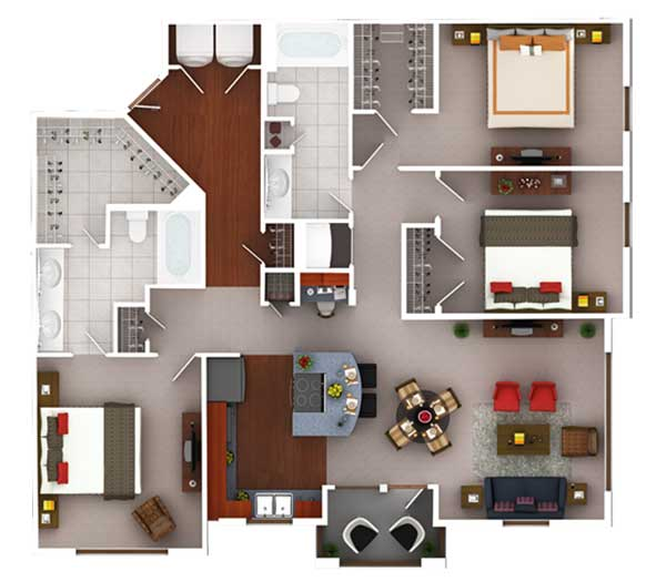1,408 sq. ft. C2.2 floor plan