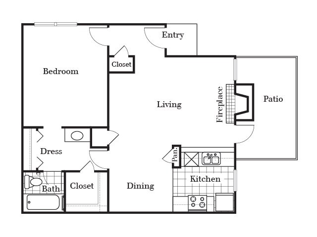 720 sq. ft. A4 floor plan