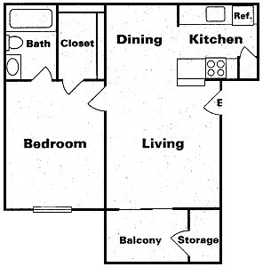 504 sq. ft. Taa1 floor plan