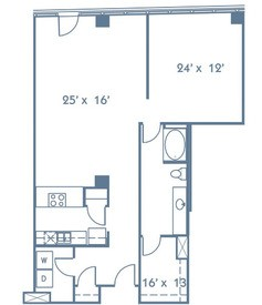 1,089 sq. ft. A9 floor plan
