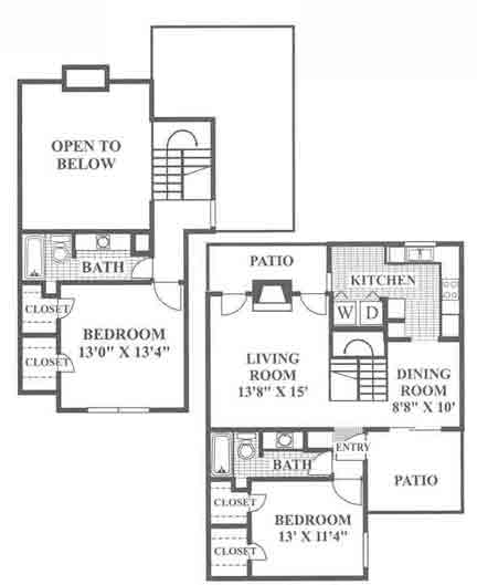 1,222 sq. ft. Diamond Hill floor plan