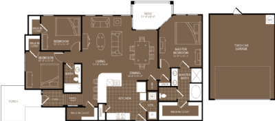 1,537 sq. ft. Rome floor plan