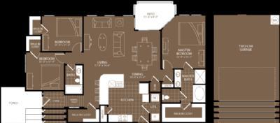 1,537 sq. ft. Rome floor plan
