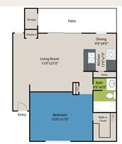 800 sq. ft. Kenworth floor plan