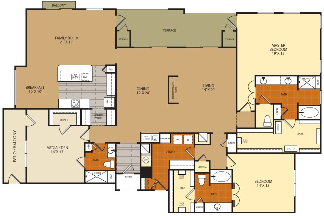 2,854 sq. ft. C3 floor plan