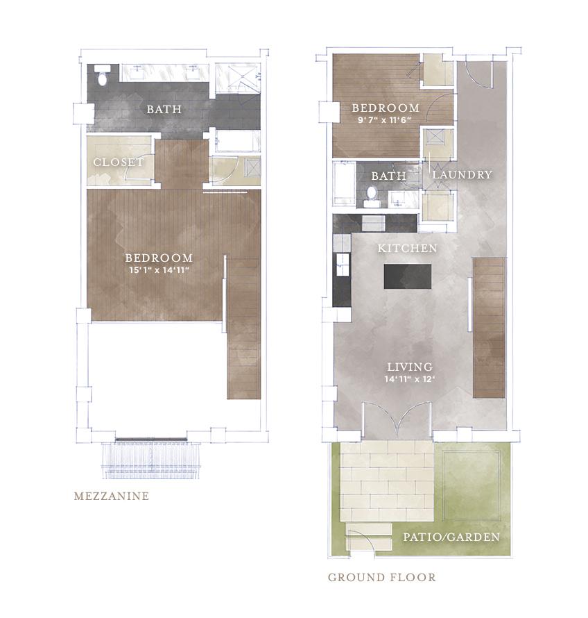 1,424 sq. ft. L5 floor plan