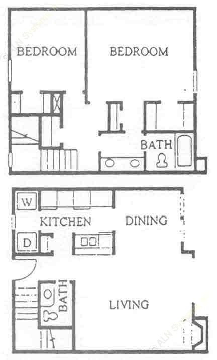 1,129 sq. ft. B-1S floor plan