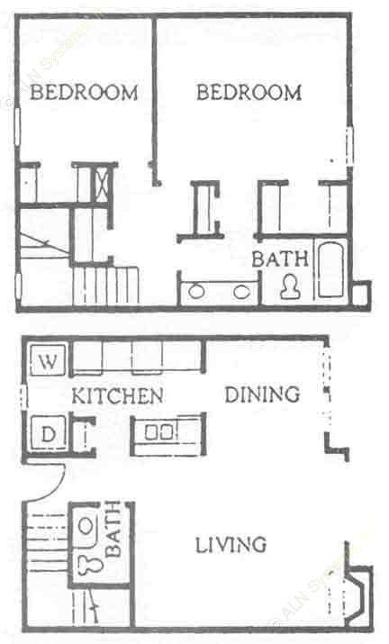 1,129 sq. ft. B-1S floor plan
