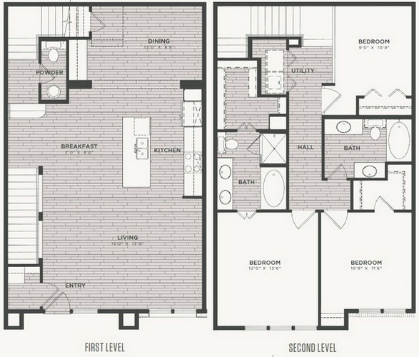 1,735 sq. ft. C1 floor plan