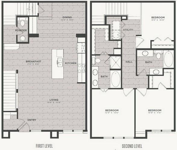 1,735 sq. ft. C1 floor plan