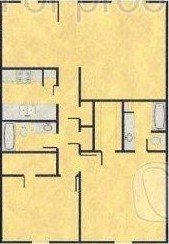 1,140 sq. ft. D floor plan