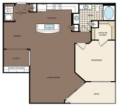 1,021 sq. ft. B2 175 floor plan