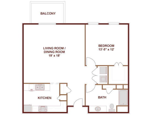 920 sq. ft. to 949 sq. ft. San Antonio floor plan