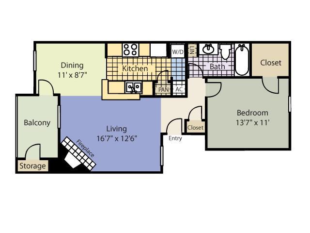 720 sq. ft. Durango floor plan