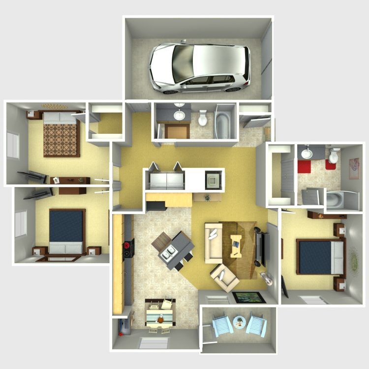 1,282 sq. ft. Grand floor plan