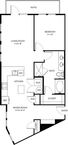 1,001 sq. ft. A4.2 floor plan