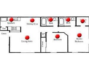 860 sq. ft. MULBERRY floor plan