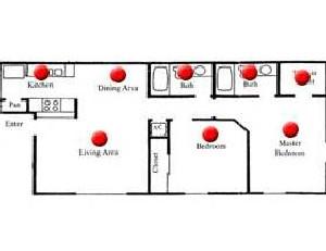 860 sq. ft. Mulberry floor plan