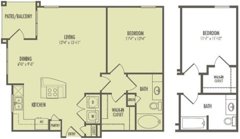 750 sq. ft. A2.1/Biltmore floor plan